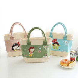 canvas water bottle Australia - Cute Girls Kids Lunch Bag Insulated Thermal Water Bottle Cooler Bags Family Picnic Fruit Pouch Products Organizer