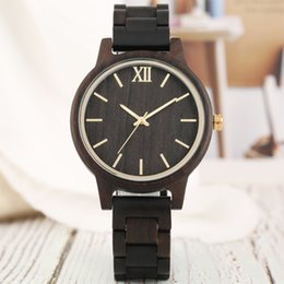 stylish ladies bracelet watch Australia - Simple Lady Wooden Watch Quartz Movement Wood Bracelet Watch Band Stylish Women's Watches Luxury Casual Female Timepiece Gifts