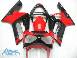 aftermarket fairing kits zx6r Australia - Red black fairings set for kawasaki Ninja ZX6R 636 03 04 aftermarket ZX-6R 2003 2004 fairing kit BV48