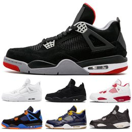 $enCountryForm.capitalKeyWord Australia - Jumpman 4 Hot Black Cement 4s Kids Basketball Shoes Mens Dunk From Above Fire Red Green Glow Eminem military blue Designer Shoes