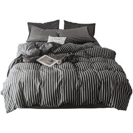 China Size Colcha Y Conjuntos Kids Sabanas Individual Linge Lit Linen Ropa De Cama Bed Cotton Sheet And Quilt Bedding Set cheap chocolate brown blue bedding suppliers