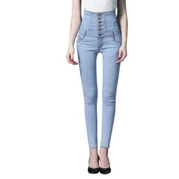 skinny lace jeans women Australia - 2019 Jeans Women Slim High Waist Lace-Up Decorated Skinny Jeans Woman Plus Size 3XL Mujer 4XL 5XL Women Denim Pencil Pants
