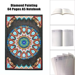 cartoon diary Australia - wholesale Mandala Cartoon Diy Diamond Painting Girl Heart Account Diary Book Plan 60 Pages A5 Notebook Birthday Christmas Gift