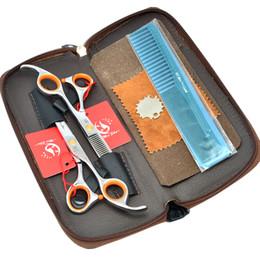 "Top Barber Shears Australia - Meisha 5.5"" 6.0"" Professional Hair Scissors Set Top Quality Salon Barbers Cutting Scissors Thinning Shears JP440C Human Hair Razors HA0152"