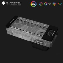 Light Display Case Australia - Barrowch Length 150mm 200mm Reservoir Acrylic Square Intelligent OLED temperature display PMMA Tank   5V Aurora Light to AURA
