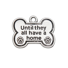 $enCountryForm.capitalKeyWord Australia - Wholesale Alloy Dog Bone Shape Charms Until They All Have A Home Dog Paw Print Charms 20*25mm 50pcs AAC974