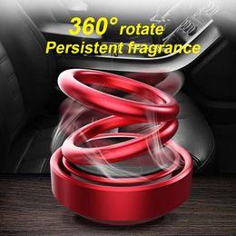 $enCountryForm.capitalKeyWord Australia - Accessories Solar Car Fragrance Rotating Air Freshener Perfume Diffuser Double Ring Alloy Suspension Interior