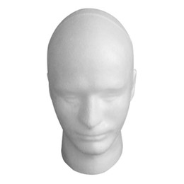 Discount male cap model - 30cm high Durable Practical Foam Male Mannequin Head Wig Stands Wigs Glasses Cap Display Display Stand Holder Styling Mo