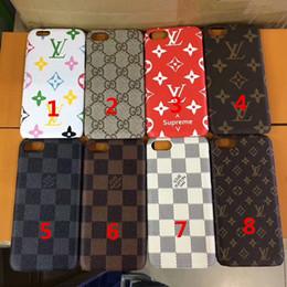 Marque de luxe en cuir PU Designer cas de téléphone pour IPhone X XS MAX XR 6S 6 7 8 plus protéger Shell cas de téléphone portable couverture en Solde