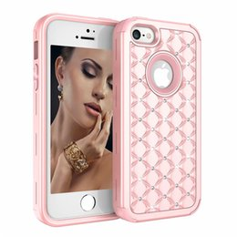 Iphone 5s case for women online shopping - Luxury Diamond Women Phone Case Heavy Duty Hybrid Full Body Protective Cover Defender Case For iPhone S SE