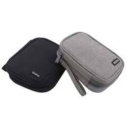 black gadgets NZ - Travel External Hard Drive Case Power Bank Case Storage Carrying Bag For iPhone Power Adapter Charger, Gadgets Cable Bag