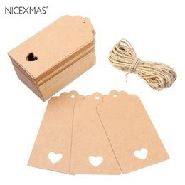 $enCountryForm.capitalKeyWord Australia - Event Party Party Holiday DIY Decorations 100pcs Hollow Heart Scalloped Kraft Paper Card   Blank Tag   Wedding Favour Gift Tag Price