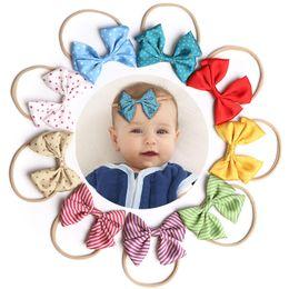 $enCountryForm.capitalKeyWord Australia - 3pcs set European and American baby candy colors Bow Designer headband baby girl elegant hair bows accessories