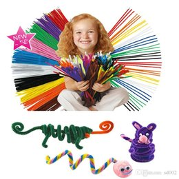 $enCountryForm.capitalKeyWord NZ - Colour Top Velvet Wire Craft Supplies Manual Material Science Twist Bar Toys Children Early Education Plaything Volatile Hot Sale 2 6qzE1
