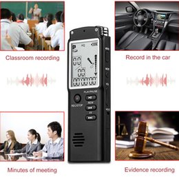 $enCountryForm.capitalKeyWord NZ - Fashionable 16GB Digital Voice Recorders WAV Voice Control Electronic Recording LED Pen Display Clock Decorative for Home Office