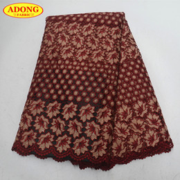 $enCountryForm.capitalKeyWord NZ - High Quality 5 Yards Piece African Water Soluble Lace Fabric Embroidery African Lace Fabric With Stones For African Mesh Dress