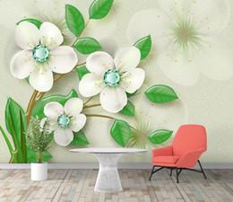 $enCountryForm.capitalKeyWord Australia - Custom Mural Wallpaper For Kids Room Hand Painted Color simple 3d flower jewellery TV background wall Wallpaper Murals Papel De Parede