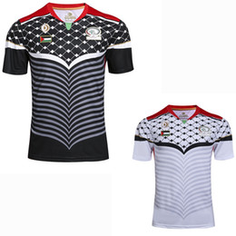 Wholesale l casual shirts resale online – Sports Palestine Soccer Jerseys home away rd football Palestine casual shirt S XL
