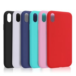 Free Cellphone Cases Canada - For iphone XS max XR X XS 8plus 7 6 5 Ultra Thin matte TPU Soft Case Cellphone Shell protective Cover candy color free shipping new arrival