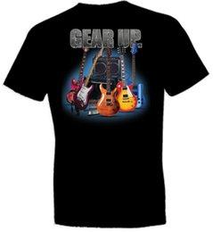 Neck Gear Australia - mens designer t shirts shirt GEAR UP GUITARS BLACK CREW NECK SHORT SLEEVE TSHIRT