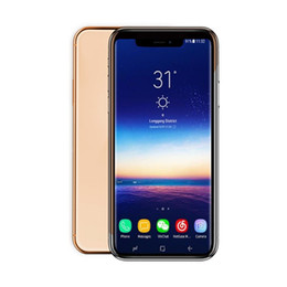 $enCountryForm.capitalKeyWord Australia - Goophones 6.5inch Xs max Quad Core 1G RAM 16G ROM 3G WCDMA fake 4G wireless charger Unlocked Phone Face ID