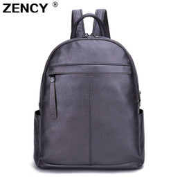 $enCountryForm.capitalKeyWord NZ - Fast Shipping 9 Colors 100% Genuine Leather Women Backpack First Layer Cow Leather White Silver Taro Purple Backpacks Travel Bag Y19051405