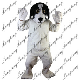 adult dog costumes Canada - 2018 New high quality Black and White Dog Mascot costumes for adults circus christmas Halloween Outfit Fancy Dress Suit Free Shipping112