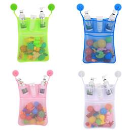Опт Детские игрушки для ванны сумка для хранения портативный ванная комната купание висит организатор хранения игрушки Net держатель мода главная организация