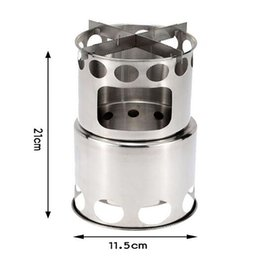 $enCountryForm.capitalKeyWord Australia - Camping Hiking Portable Stove Outdoor Equipment Cooking Picnic Cookware Travel Split Wood Stove easy to ignite Stainless Steel stoves