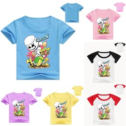 Character Sweatshirts For Boys NZ - DJ marshmello Kids hoodie sweatshirts 2019 New summer top modis Cartoon Print Short Sleeve T-shirt for Girls Boys t shirts clothes LE216