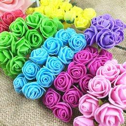 Discount white rose yellow flower garland - 12 PCS mini rose bouquet, simulation, foam, flower, handmade garlands