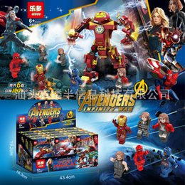 Wholesale Boxes Packaging Australia - Avengers 4 Blocks Toys Minifig Doll Come With Retail Box Packaging 7inches Marvel Movie Doll Toys Kids Toys
