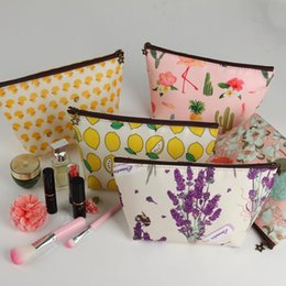 purse making kit Australia - Designer- Cosmetic Bag Fish Duck Patter Toiletry Bag Kit Women Coin Purse Cosmetic Make up Storage Bags Organizer Zipper Pouch Small Bag