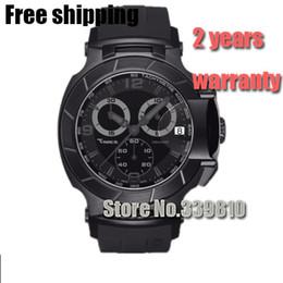 Men Sports Racing Watch Australia - T048.417.37.057.00 Men Fashion Sports Military Watches T048 Chronograph Mens Quartz Wristwatches Waterproof T-Race Luxury Watch Top Brand