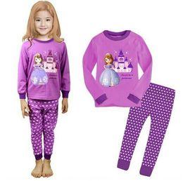 $enCountryForm.capitalKeyWord Australia - New spring autumn Baby Girls Pajamas Sets Sports Suit Long Sleeve T-shirt +Pants Kids Childrens Clothing 2-7year Sets P33