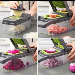 dice vegetables NZ - Cut Vegetables Artifact Multifunctional Diced Potato Wire Cutter Grater Household Potato Chips Slice Kitchen Grater Cut Vegetables ce2007 Pw
