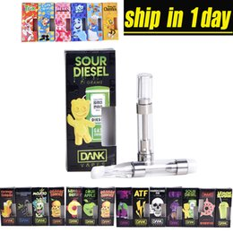Pack coils online shopping - Dank Vapes Cartridge New Black Pack Thread ml Gram Ceramic Coil Vape Carts mm Intake Hole for Thick Oil at202