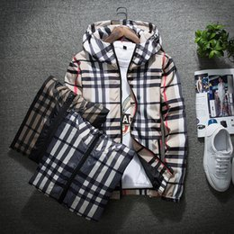 Wholesale casual windbreaker resale online – Fashion Jacket Casual Windbreaker Long Sleeve Plus Size M XL Mens Jackets Zipper Pocket Mens Hoodie Coat Plaid Jackets