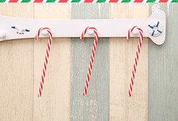 christmas decorations candy cane UK - 60PCS Christmas candy cane Christmas tree hanging decorations for home supplies festival holiday T191017