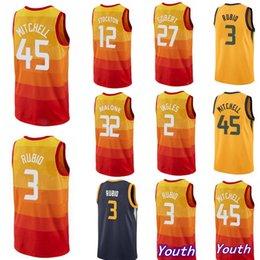 Donovan 45 Mitchell Basketball Jerseys Ricky 3 Rubio John 12 Stockton 27  Gobert 2 Ingles Grayson 24 Allen jersey Malone Earned 3b03cab6f