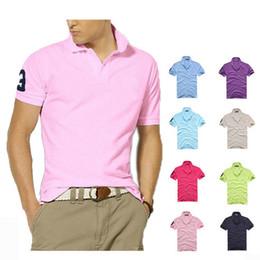 Summer High quality cotton Tshirt polo men ralph mens Tshirt business mens designer polo shirt embroidered lapel polo shirt Free shipping on Sale