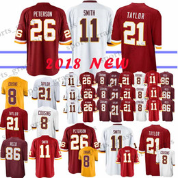 99cf37bcb 11 Alex Smith Washington Redskins jerseys 26 Adrian Peterson 91 Ryan Kerrigan  21 Sean Taylor 8 Kirk Cousins 29 Guice 86 Reed jersey 2019 new