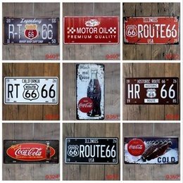 Tin car plaques online shopping - City Retro Metal Tin Signs Motorcycle Route Cars Vintage Garage License Plate Plaque Poster Club Wall Home Decoration CM