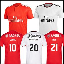 14caa58bd7e 2019 Benfica Jersey 10 Jonas Home Soccer Jerseys 18 Toto Salvio Alex  Grimaldo Franco Cervi Pizzi Top sale Red Mens Football Shirts