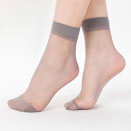c7c945fcb Summer ultra-thin crystal short stockings ladies black flesh-colored socks  anti-hook silk transparent socks