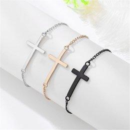 $enCountryForm.capitalKeyWord Australia - ZCHLGR Hot European Cheap Punk Fashion Vintage Cross chain Bracelets For Women Gift Bangles Men Jewelry gift