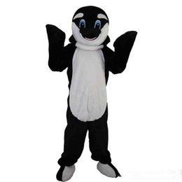 Dolphin suits online shopping - New high quality black dolphin Mascot costumes for adults circus christmas Halloween Outfit Fancy Dress Suit