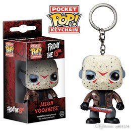 low price toys NZ - GS low price Discout Funko Pocket POP Keychain - Jason Voorhees Vinyl Figure Keyring with Box Toy Gift Good Quality Free Shipping 575