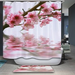 shower curtains flowers Canada - Polyester Fabric Shower Curtain Waterproof Home Bathroom Curtains Flowers orchid purple bath crutain for the bathroom