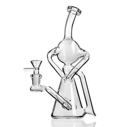$enCountryForm.capitalKeyWord UK - Glass water bong pipe dab oil rig unique new arrival hookah recycler Rigs bubbler heady dabber